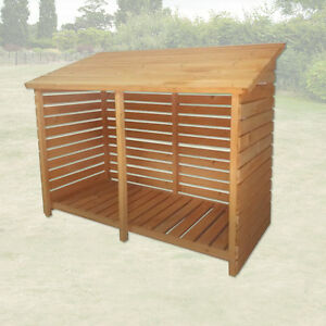 Image Is Loading LARGE DOUBLE WOOD STORE GARDEN LOG STORAGE SHED