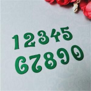 Stanzschablone Zahlen Ziffer Nummer Weihnachts Hochzeit Geburtstag Karte Album