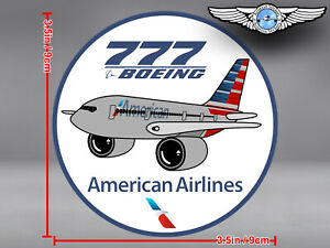 AMERICAN-AIRLINES-AA-BOEING-B777-B-777-PUDGY-DECAL-STICKER