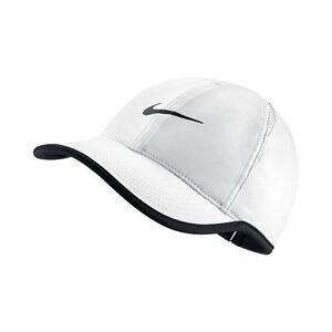 0d4bf59941 NEW! White Nike Women s DRI-FIT Tennis Golf Runners Featherlight Cap ...