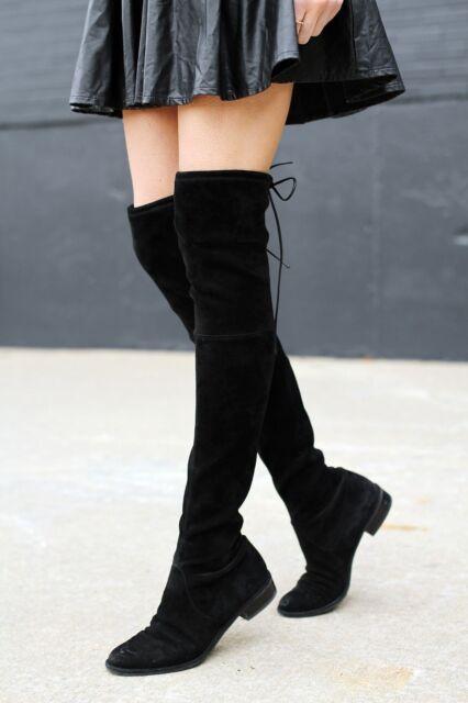 8a2da70e1ae Stuart Weitzman Lowland Black Suede BOOTS Size 7 M for sale online ...