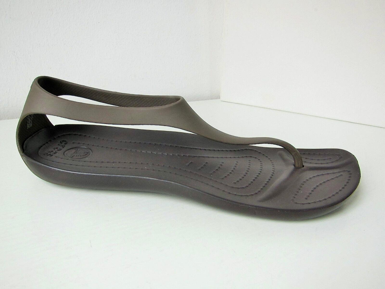 Crocs Sexi Flip Sandale brown W 11  42 43  sandals shoes thongs espresso