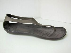 Crocs Sexi Flip Sandale braun W 11  42 43  sandals shoes thongs espresso