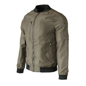 Beautiful Giant Men/'s Front Zip Quilted Bomber Jacket Flight Outdoor Coat Olive