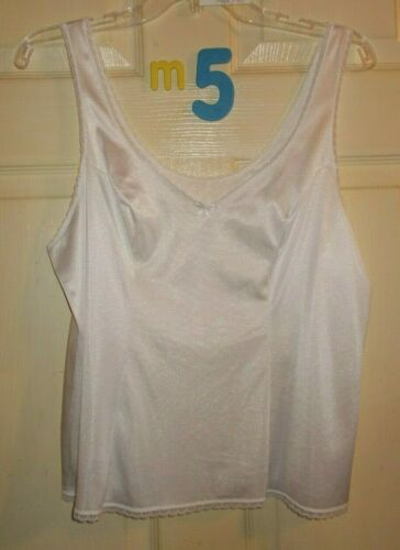 Women Camisole Cami Nylon Polyester Spandex White Ivory Black Red Pink All Sizes