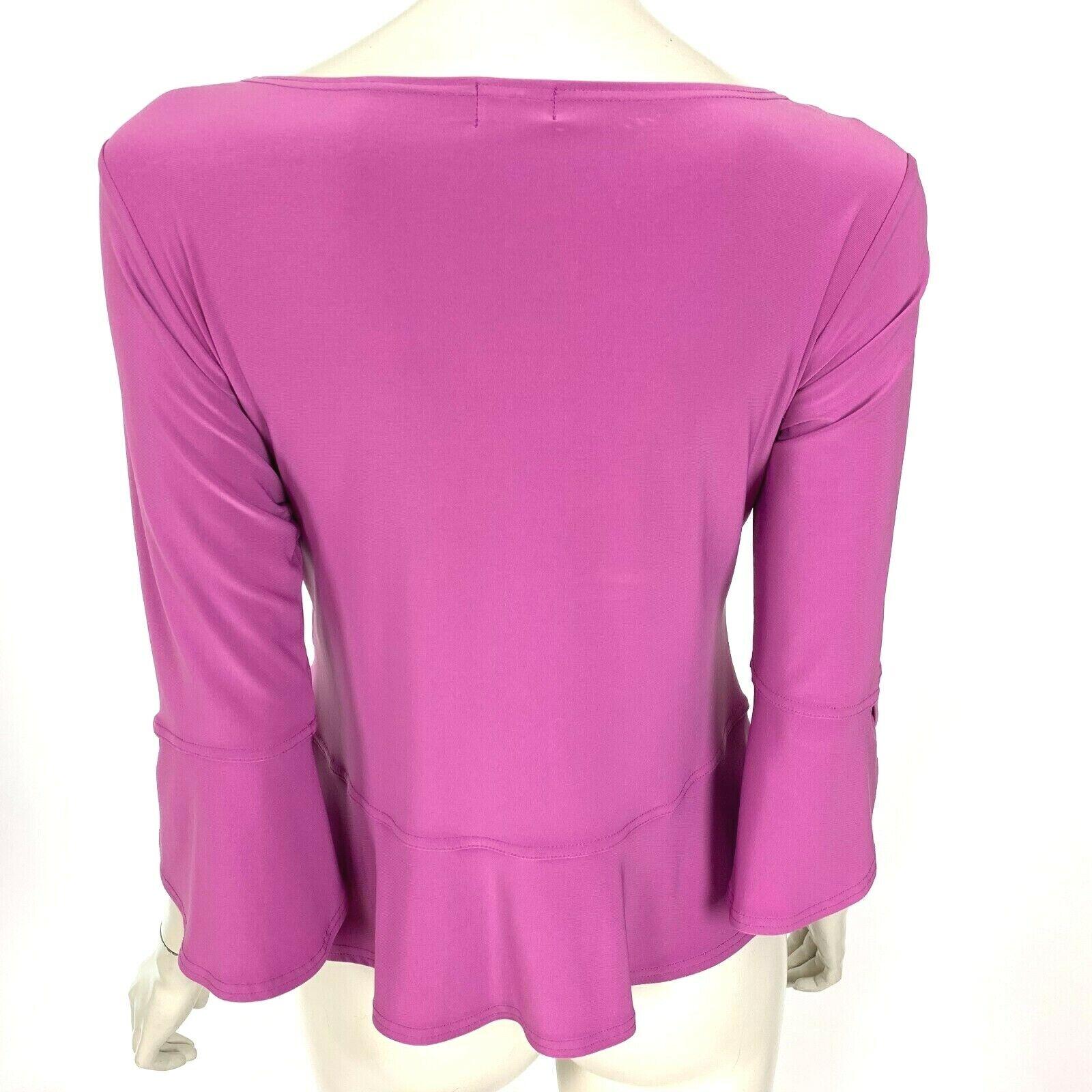 Sympli Canada Lilac Blouse Top 3/4 Sleeve Scoop N… - image 3