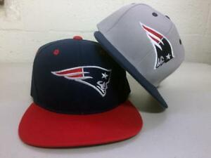 New-England-Patriots-Snap-Back-Cap-Adjustable-Hat-Embroidered-NE-Flat-Bill-Men