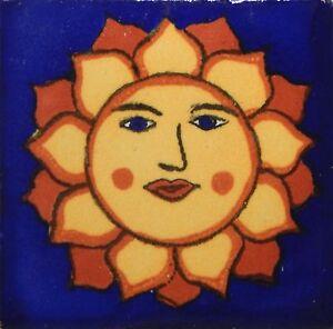 "25 Mexican Talavera  TIiles 2x2/""  Folk Art Handmade 2-01"