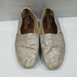 100ae35a488 Image is loading Toms-Shoes-Classics-Silver-Sparkle-Shimmer-Glitter-Slip-
