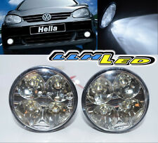 2x 4 LED Round DRL Daytime Running Driving Auto Car Fog Lamps Light Bulb Kit A1