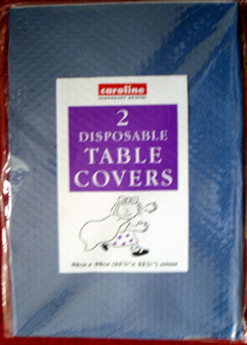 10 new dark blue paper disposable table cloths party  tablecloths