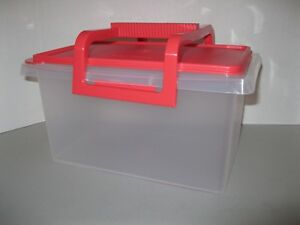 Image Is Loading TUPPERWARE SMALL CARRY ALL W HANDLE Storage Organizer