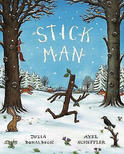 Julia-Donaldson-Story-Book-STICK-MAN-STICKMAN-Story-Paperback-NEW