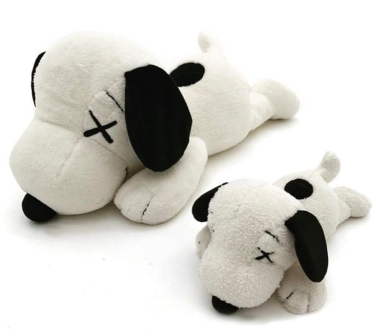 KAWS x PEANUTS UNIQLO SNOOPY PLUSH TOY SET OF 2 - SMALL & LARGE - FREE SHIPPING