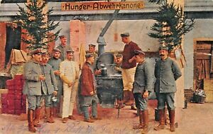GERMAN-SOLDIERS-HUNGER-ABWEHRIKANONE-HUNGER-DEFENSE-CANNON-FELDPOST-WW1-POSTCARD