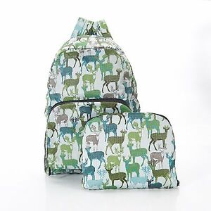 Stag-deer-print-Expandable-Backpack-Rucksack-holds-20kg-max-6mth-guarantee