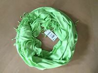 (nwt) Inc International Concepts Women's Chartreuse Bright Green Fringed Scarf