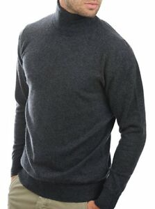 antracite 2 dolcevita 100 Balldiri maglione cashmere strati Xxxl uomo chiazzato dx0xqXI