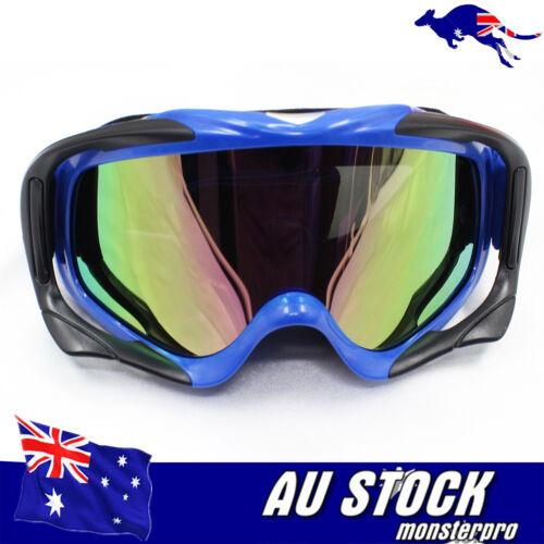 Blue Tinted Racing Goggles MX//Motorbike//ATV//Dirt Bike Riding Skiing snow board