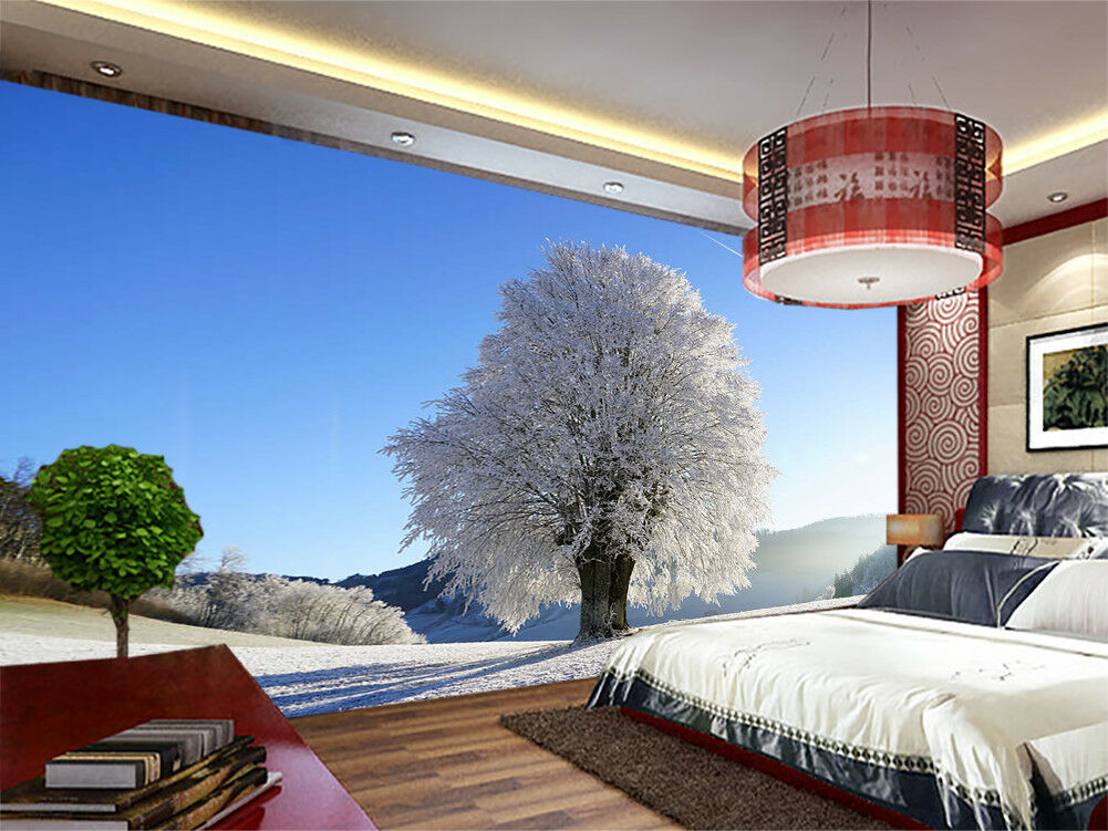 Trees Of Snow Mountains 3D Full Wall Mural Photo Wallpaper Print Home Kids Decor