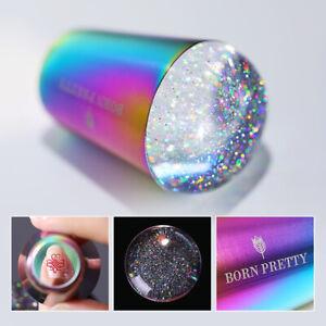 BORN-PRETTY-Regenbogen-Holographisch-Nagel-Stamper-Schaber-Stamping-Plates-Kit