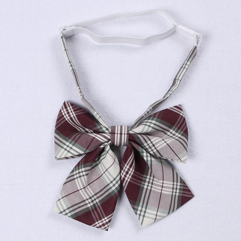 2pcs Women Lolita Bow Tie School Uniform Neck Tie Japanese Cute Preppy Cosplay