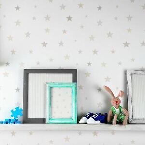 Recyclable-Grandeco-LO2701-Petit-Ceux-Eco-Etoile-Papier-Peint-en-Gris