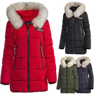 huge selection of 225f9 2ce09 Details zu Schöne Trisens warme Winter Parka Jacke Fell tailliert Kunst  Fell Damen lang