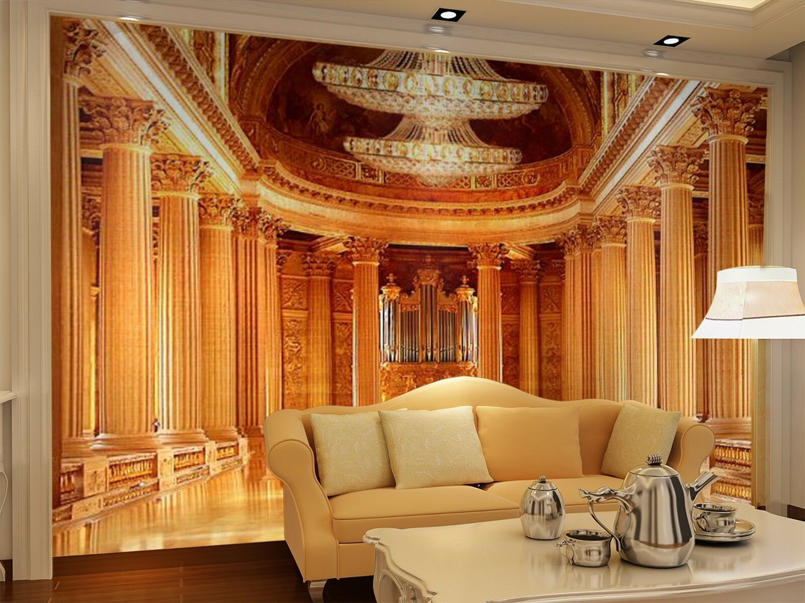 3D Golden Basilica 2646 Wall Paper Wall Print Decal Wall Indoor Murals Wall US