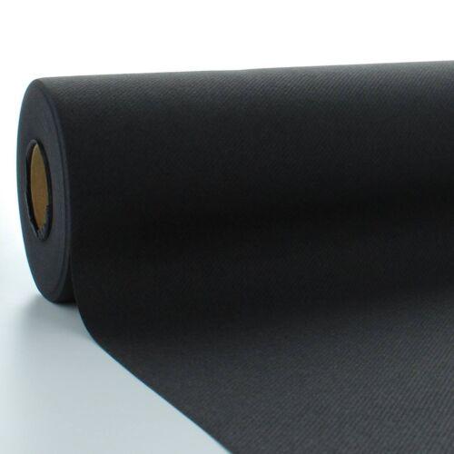 Einweg Tischband 1 Tischdeckenrolle Schwarz aus Linclass® Airlaid 120cm x 25m