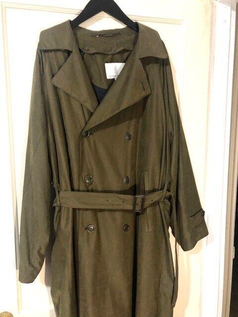 London Fog Trench Coat 42 Regular Olive Green Ins… - image 1