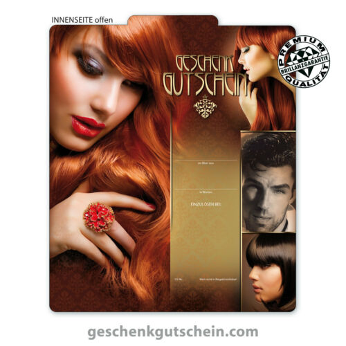 """Premium Folding Coupons /""""Multicolour/"""" for Hairdressers Hair Studios Hairstyling k255"""