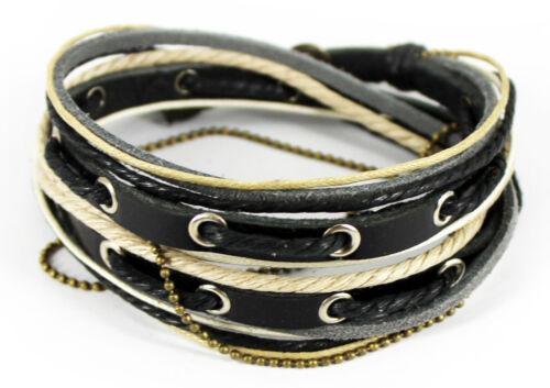 Surferarmband Leder Armband Unisex Wickelarmband Bracelet TIBET STYLE SERIE