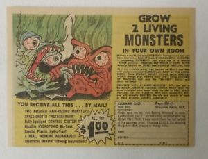 1965 horror toy cartoon ad ~ GROW 2 LIVING MONSTERS