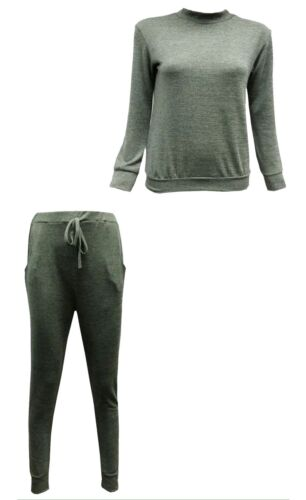 NUOVA linea donna Marna Morbido MAGLIA TUTA PANTS sweater top donna LOUNGE WEAR Set