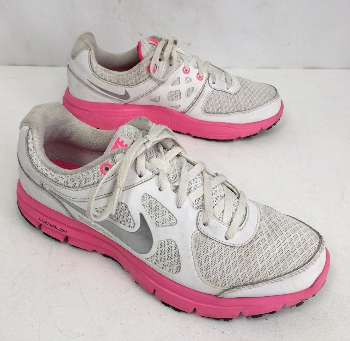 Nike Lunar Forever White/Pink Sz 9 Women Running Shoes Sneakers In EUC The latest discount shoes for men and women