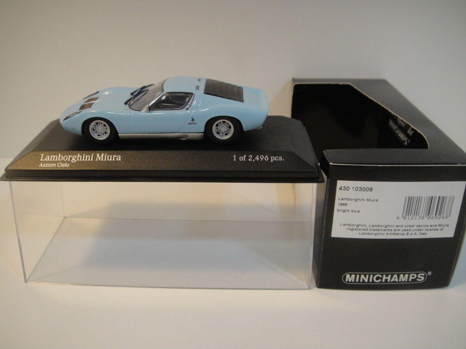 --1 43 MINICHAMPS. LAMBORGHINI MIURA 1966 Bright bleu.