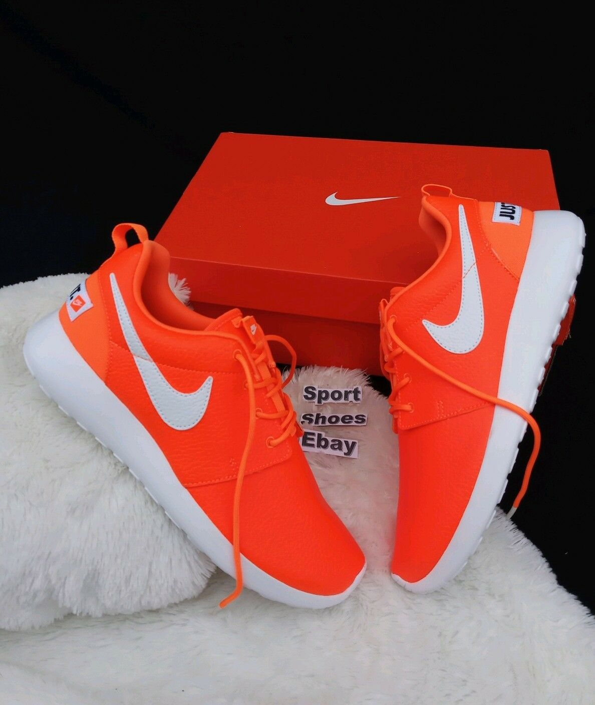 11 WOMEN'S Nike Roshe One Premium Just Do It 833928-800 orange NEON  RUNNING