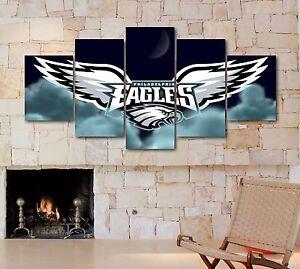 large five piece philadelphia eagles nfl sport canvas