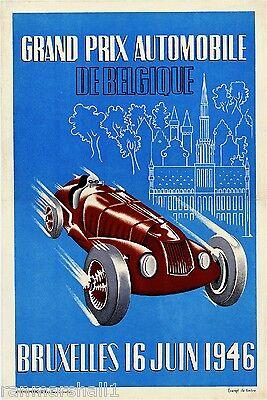 1958 Havana Cuba Grand Prix Automobile Race Car Advertisement Vintage Poster