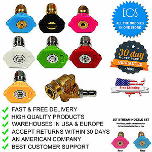 4000 PSI Power Pressure Washer Accessories Kit, 7 Nozzle Tips, Pivoting Coupler