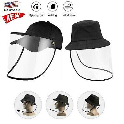 1Pcs Fisherman Full Face Hat Protective Cover Saliva-proof Dust-proof Visor Cap
