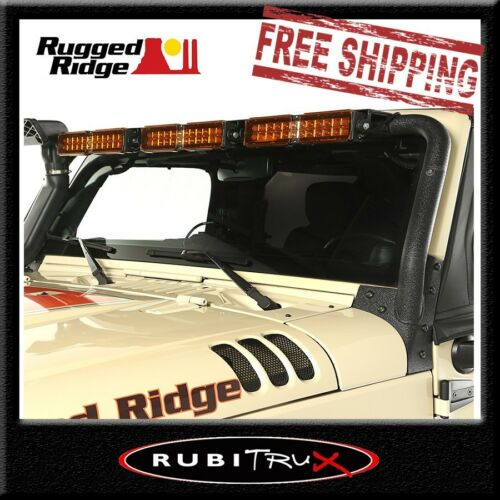 Rugged Ridge 11232.25 LED Windshield Light Bar Mount Jeep Wrangler JK 2007-2018