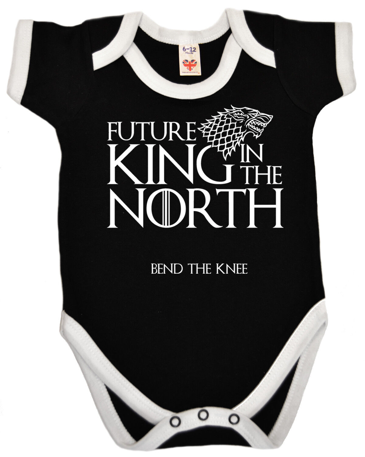 "Baby Game of Thrones T-Shirt /""Future King in the North/"" Funny GOT Tee Gift"