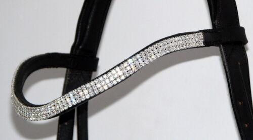 Fss glitzy courbe forme cristal 3x row wave bling allemand diadème clair ab aurora