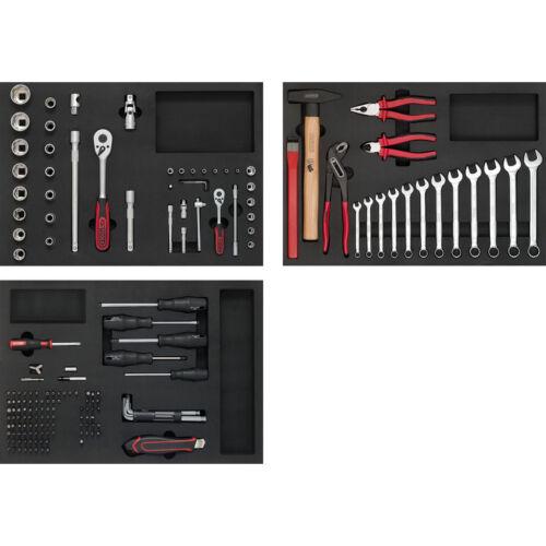 KS TOOLS Werkzeug-Einlagen-Sortiment 174-tlg einlagen-Satz für 3 Schubladen