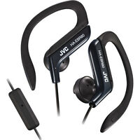 Jvc Sports Stereo Ear Clip Earbuds With Remote And Mic Black