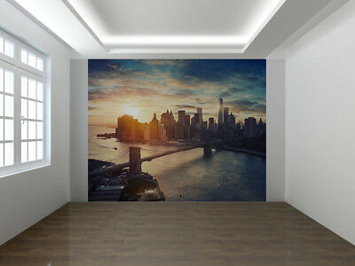 NON-WOVEN Photo Wallpaper Wall Mural NYC Lights NEW YORK CITY MANHATTAN  368X254