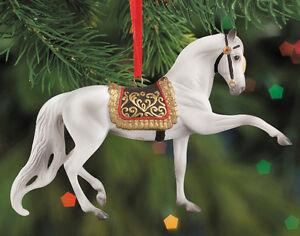 Breyer-700509-Andalusian-Porcelain-Holiday-Horse-Christmas-Ornament-NIB