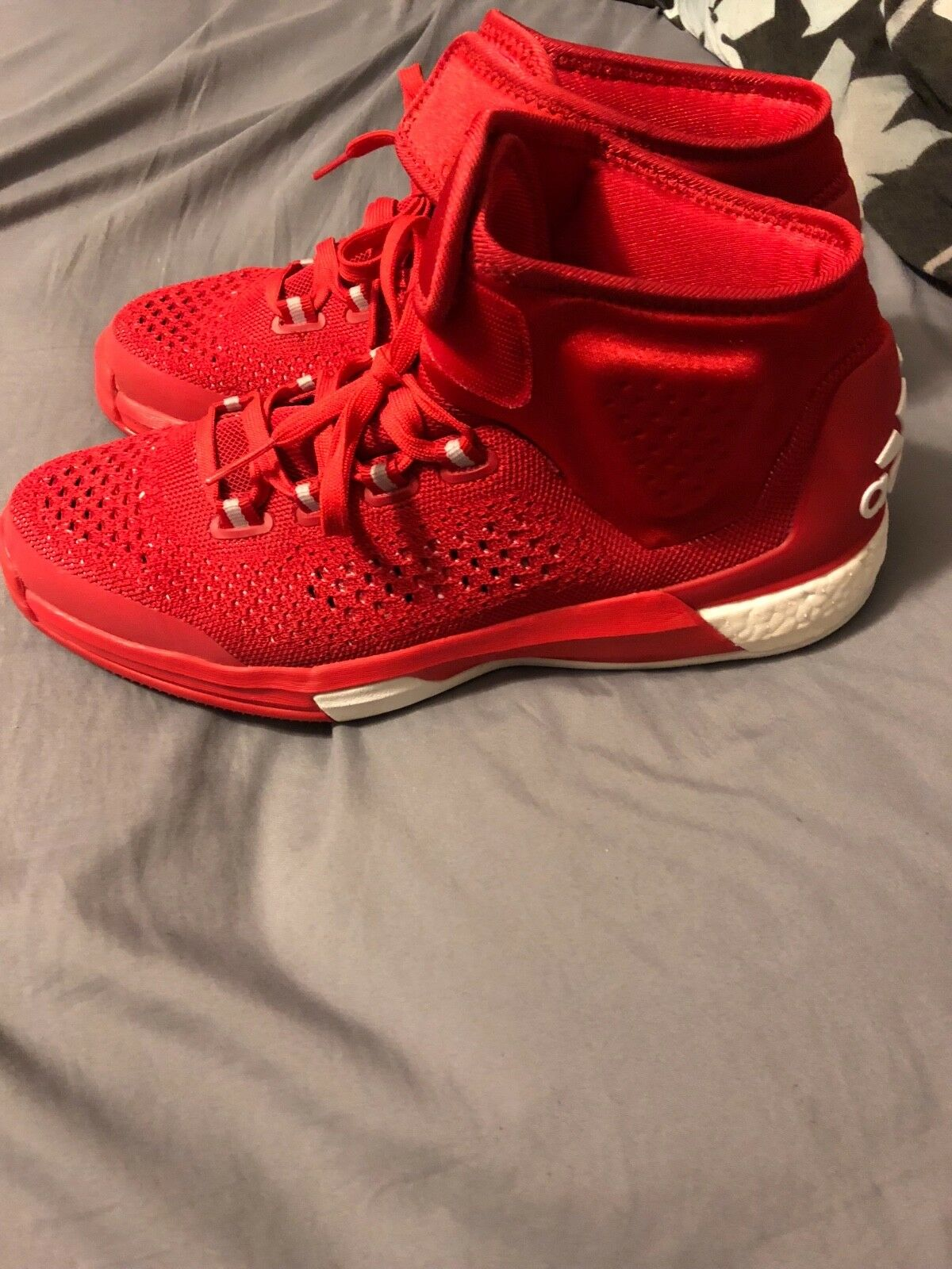 Men's adidas Crazy Light Boost Red, size 10. Great condition! Seasonal clearance sale